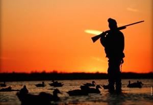 Фото охотник с ружьем